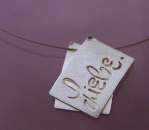 silver pendant LOVE