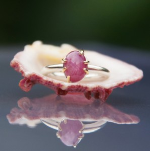 gold and silver ruby ring